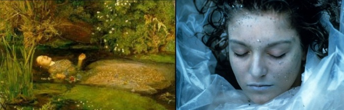 Ophelia by John Everett Millais and Laura Palmer (Twin Peaks)