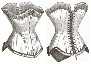 A typical Victorian corset