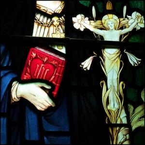 Window at the church of St Nicholas, Blakeney, Norfolk