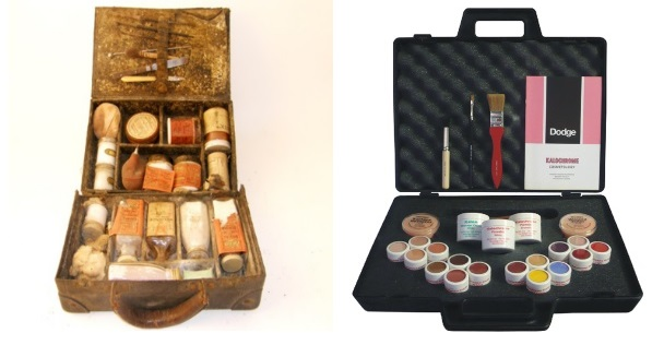 Vintage and modern mortuary make-up - not much has changed